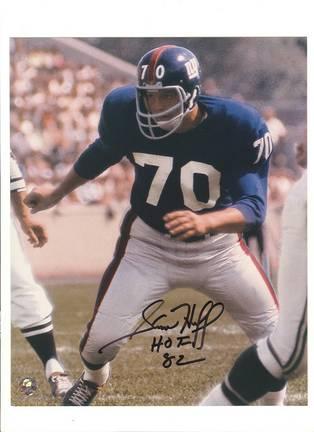 "Sam Huff New York Giants Autographed 8"""" x 10"""" Photograph (Unframed"