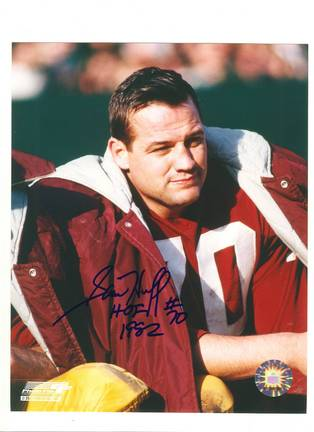 """Sam Huff Washington Redskins Autographed 8"""" x 10"""" Photograph Inscribed with """"HOF 1982"""" and """"#70"""