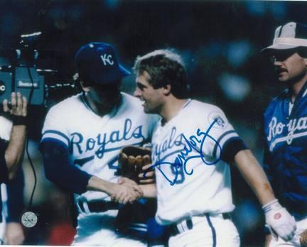 "Dane Iorg Autographed ""Game 6 Celebration"" Kansas City Royals 8"" x 10"" Photo"
