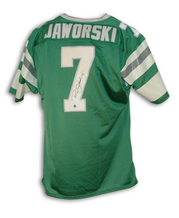 Ron Jaworski Philadelphia Eagles Autographed Throwback Football Jersey (Green)