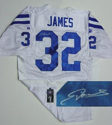 Edgerrin James Indianapolis Colts NFL Autographed Authentic (White) Puma Jersey