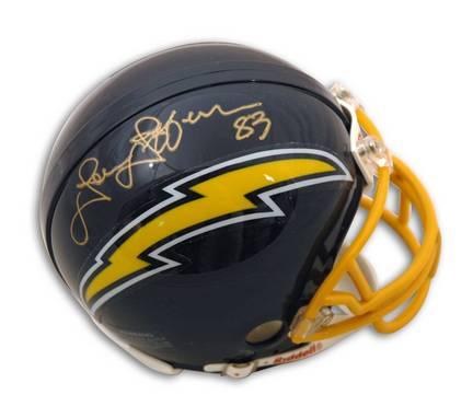John Jefferson Autographed San Diego Chargers Mini Helmet APE-JEFFERSON-SD-M