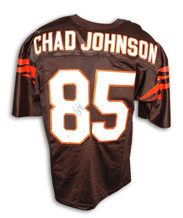 Chad Johnson Autographed Cincinnati Bengals Black Custom Made Football Jersey