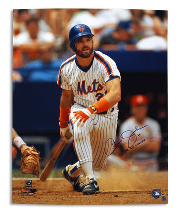 """Howard Johnson Autographed New York Mets 16"""" x 20"""" Photograph Inscribed with """"86 WS Champs"""" (Unframe"""
