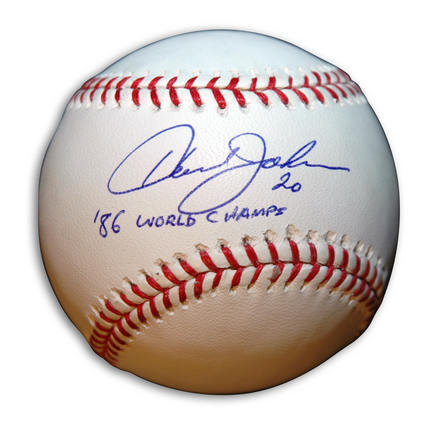 """Howard Johnson Autographed Baseball Inscribed with """"'86 World Champs"""""""