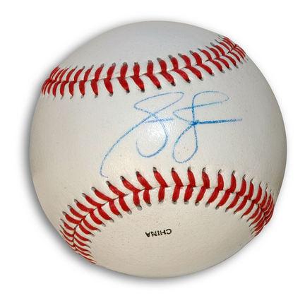 Andruw Jones Autographed Rawlings Practice Baseball