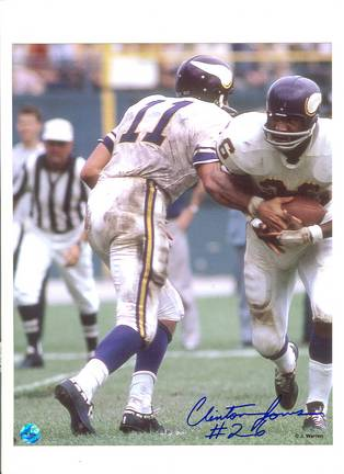 "Clint Jones Minnesota Vikings Autographed 8"" x 10"" Photograph with ""26"" Inscription (Unframed)"