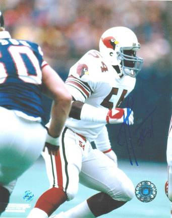 """E.J. Junior Autographed """"Vs Giants"""" St. Louis Cardinals (Football) 8"""" x 10"""" Photo"""