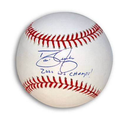 """David Justice Autographed MLB Baseball Inscribed """"2000 WS Champs!"""""""
