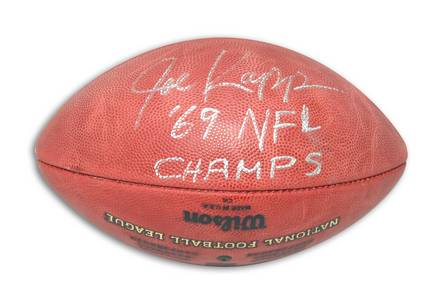 "Joe Kapp Autographed NFL Football Inscribed ""69 NFL Champs"""