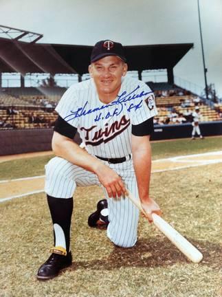 "Harmon Killebrew Autographed Minnesota Twins 11x14 Photo Inscribed ""HOF 84"""