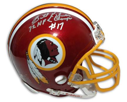 Billy Kilmer Autographed Washington Redskins Pro Line Helmet