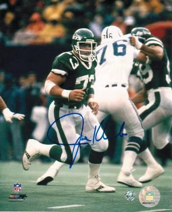 "Joe Klecko New York Jets vs. Indianapolis Colts Autographed 8"" x 10"" Photograph (Unframed)"