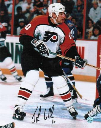 """John LeClair Autographed """"In Front of the Net"""" Philadelphia Flyers 8"""" x 10"""" Photo"""