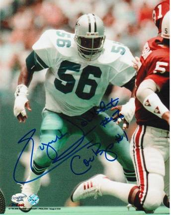 "Eugene ""The Hit Machine"" Lockhart Autographed ""Vs Cardinals"" Dallas Cowboys 8"" x 10"" Photo"