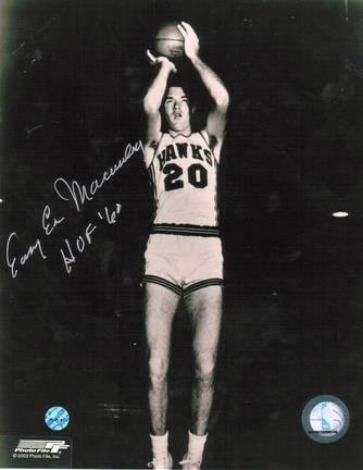 "Easy Ed Macauley ""Jump Shot"" Autographed St. Louis Hawks 8"" x 10"" Photo"