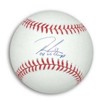 "Ryan Madson Autographed MLB Baseball Inscribed ""08 WS Champs"""