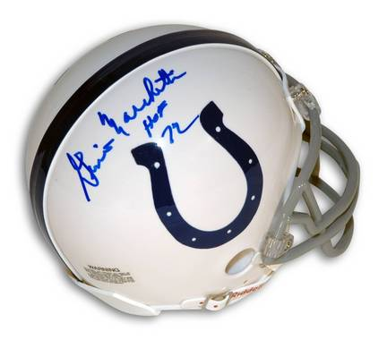 """Gino Marchetti Autographed Baltimore Colts Mini Football Helmet Inscribed with """"HOF 72"""""""