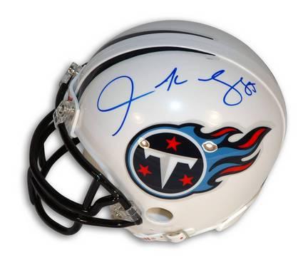Derrick Mason Autographed Tennessee Titans Mini Football Helmet