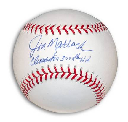 """Jon Matlack Autographed MLB Baseball Inscribed with """"Clemente's 3000th Hit"""""""