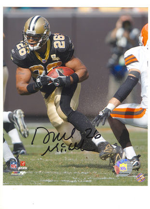 "Deuce McAllister Autographed Running vs. the Cleveland Browns 8"" x 10"" Photograph (Unframed)"