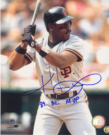 "Kevin Mitchell Autographed San Francisco Giants 8"" x 10"" Photograph Inscribed with ""89 NL MVP"" (Unfr"