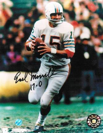 """Earl Morrall Miami Dolphins Autographed 8"""" x 10"""" Unframed Photograph Inscribed with """"17-0"""""""
