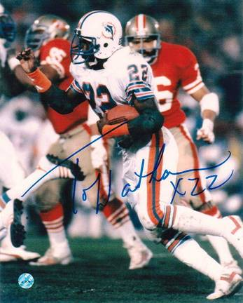 """Tony Nathan Miami Dolphins Autographed 8"""" x 10"""" Unframed Photograph"""