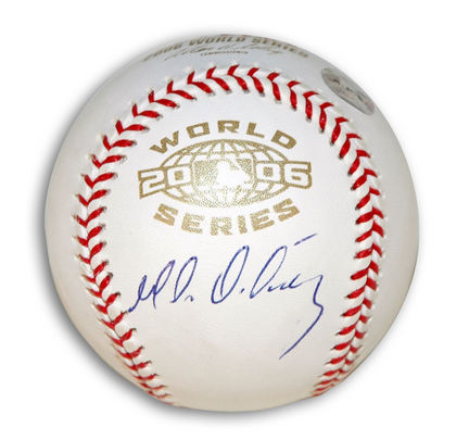 Magglio Ordonez Autographed 2006 World Series Baseball