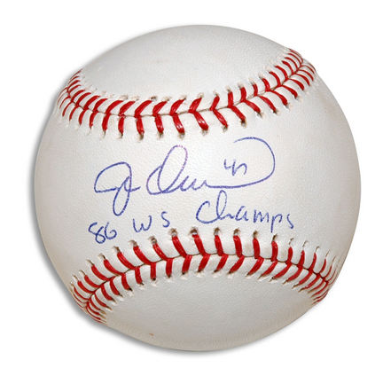 """Jesse Orosco Autographed Baseball Inscribed with """"86 WS Champs"""""""