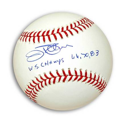 """Jim Palmer Autographed MLB Baseball Inscribed with """"WS Champs 66, 70, 83"""""""