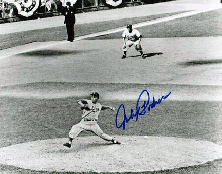 "Johnny Podres Brooklyn Dodgers Autographed Horizontal 8"" x 10"" Unframed Photograph"