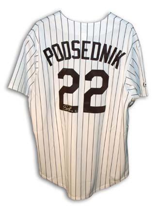 Scott Podsednik Autographed Chicago White Sox Pinstripe Jersey