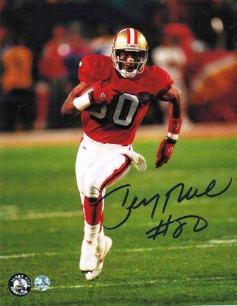 "Jerry Rice Autographed ""Running After the Catch"" San Francisco 49ers 8"" x 10"" Photo"