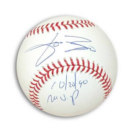 "Jose Rijo Autographed MLB Baseball Inscribed with ""10/20/90 MVP"""