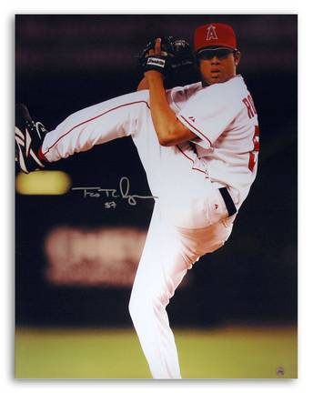"Francisco ""Krod"" Rodriguez Los Angeles Angels of Anaheim Autographed 16"" x 20"" Photograph (Unframed)"