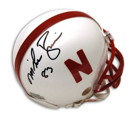 Enjoy this autographed helmet featuring NCAA player Mike Rozier of the...