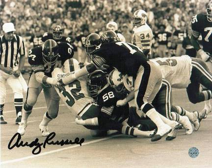 """Andy Russell Pittsburgh Steelers Autographed 8"""" x 10"""" Photograph (Unframed)"""