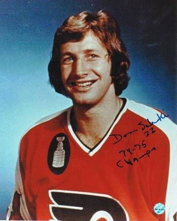 """Don Saleski Philadelphia Flyers Autographed 8"""" x 10"""" Photograph Inscribed with """"74-75 Champs"""" (Unfra"""