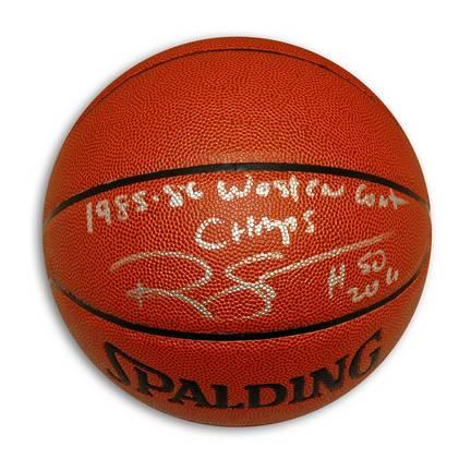 Ralph Sampson Autographed Indoor/Outdoor Basketball Inscribed