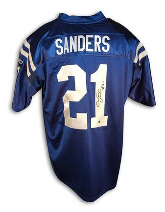 Bob Sanders Indianapolis Colts Autographed Reebok Authentic NFL Football Jersey (Blue)
