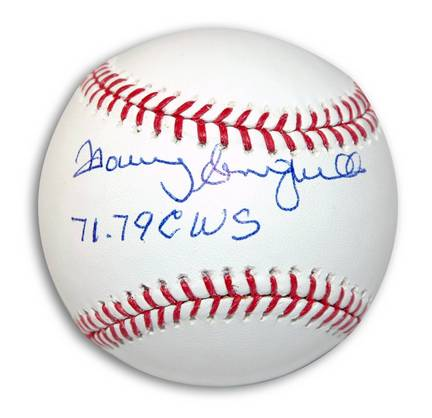 "Manny Sanguillen Autographed Baseball Inscribed with ""71 79 CWS"""