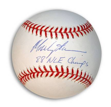 """Mackey Sasser Autographed Baseball Inscribed """"88 NLE Champs"""""""