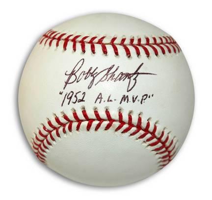 "Bobby Shantz Autographed Baseball Inscribed with ""1952 AL MVP"" (Black Ink)"