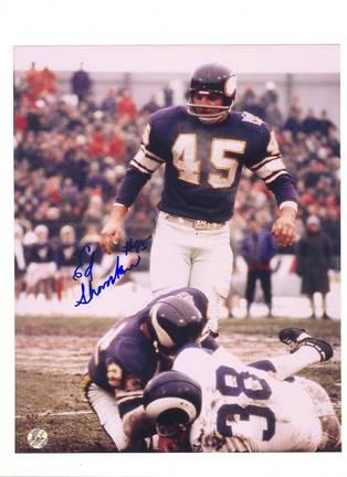 "Ed Sharockman Minnesota Vikings Autographed 8"" x 10"" Photograph (Unframed)"
