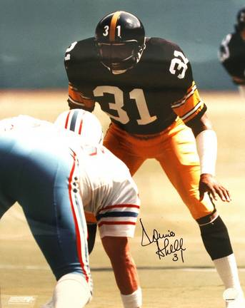 "Donnie Shell Autographed ""Vs Oilers"" Pittsburgh Steelers 16"" x 20"" Photo"