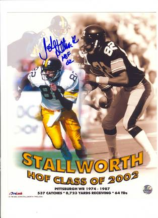 """John Stallworth Pittsburgh Steelers Autographed 8"""""""" x 10"""""""" Hall of Fame Collage  Photograph Inscribed """"""""HOF 02"""""""" (Unframed)"""" APE-STALLWORTH-J-HOFCOL-8X10"""