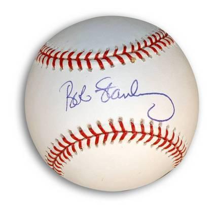 Bob Stanley Autographed MLB Baseball