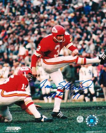 "Jan Stenerud Kansas City Chiefs Autographed 8"" x 10"" Unframed Photograph Inscribed with ""HOF 91"""