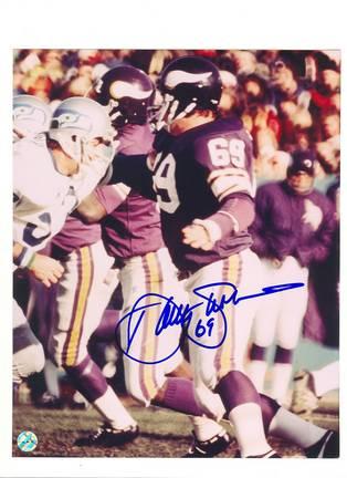 "Doug Sutherland Minnesota Viking Autographed 8"" x 10"" Photograph with ""69"" Inscription (Unframed)"